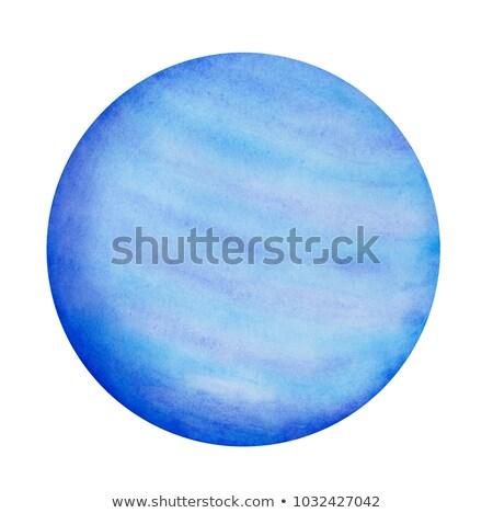 vízfesték · kéz · festett · körök · kör · forma - stock fotó © sonya_illustrations