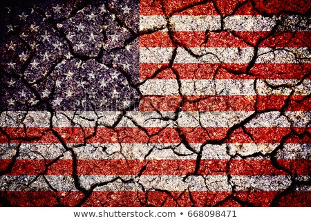 american flag on cracked ground background Stock photo © dolgachov