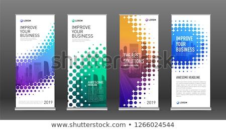 yarım · ton · yaratıcı · afişler · vektör · renkli · etki - stok fotoğraf © blumer1979