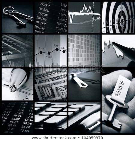 Dollár kulcsok siker számítógép billentyűzet zöld pénz Stock fotó © paviem