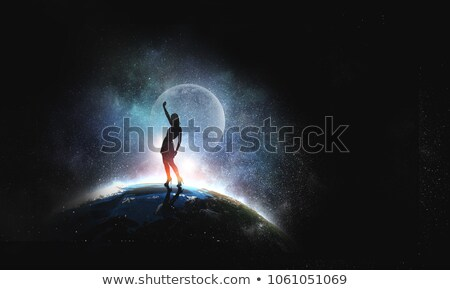 dancing on top of the world stock photo © milsiart