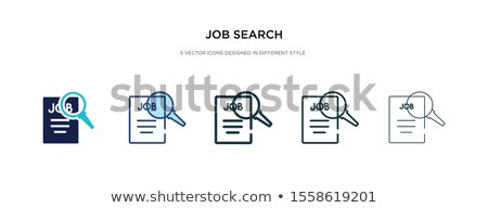 career growth icon in different style stock photo © sidmay