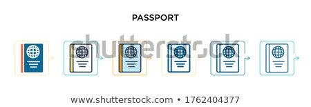 Pasaporte icono diferente estilo color vector Foto stock © sidmay