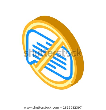Delete isometric icon, isolated on color background Stock photo © sidmay