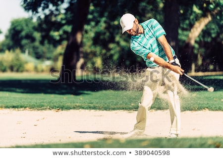 Golfer in sand trap Stock photo © IS2