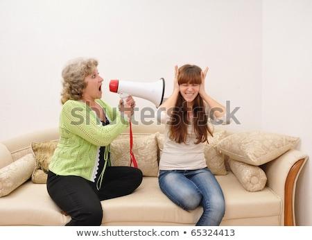 çiftler nesil boşluk romantik örnek çift Stok fotoğraf © lenm