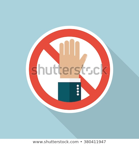 Prohibition icon flat Stock photo © smoki
