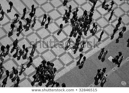 Prague streets - aerial view Stock photo © benkrut