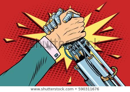 robot · persoon · pop · art · retro-stijl · software · computer - stockfoto © studiostoks