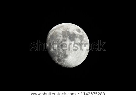 Almost Full Moon Against A Black Sky Shot From Southern Californ Stock photo © feverpitch