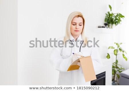 Photo stock: Séduisant · brunette · Homme · médecin · permanent