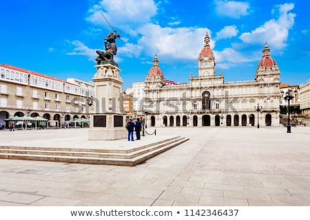 Pita cuadrados galicia España ciudad Foto stock © lunamarina