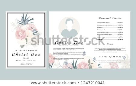 похороны карт шаблон крест цветок Сток-фото © orson