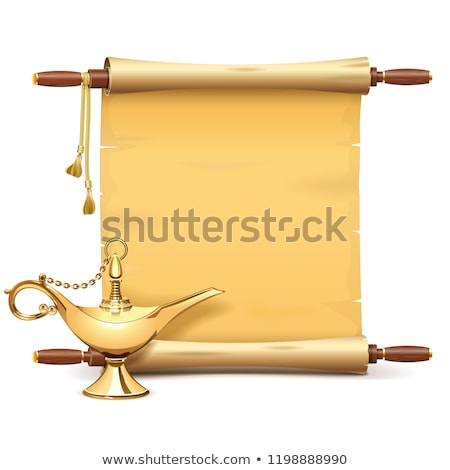 Vector Paper Scroll with Magic Lamp Stock photo © dashadima