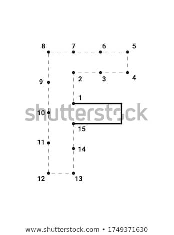 how to write letter F workbook for children Stock photo © izakowski