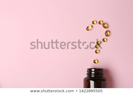Stock photo: Dietary Supplement Question
