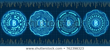 Mining Bitcoin Crypto Currency, BTC, Bit-coin. Futuristic Money. Blockchain. Processing Binary Data  Stock photo © smeagorl