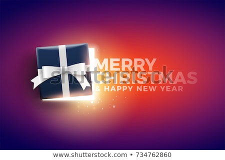 Mitad abierto caja de regalo luces superior Foto stock © sgursozlu