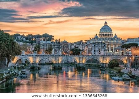 híd · Vatikán · Róma · Olaszország · víz · épület - stock fotó © givaga