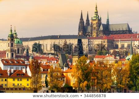 Stockfoto: Praag · kasteel · water · wolken · landschap