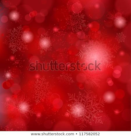 Snowfall On Dark Red Background Stockfoto © wenani