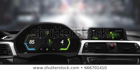 auto · dashboard · licht · Rood - stockfoto © sarymsakov