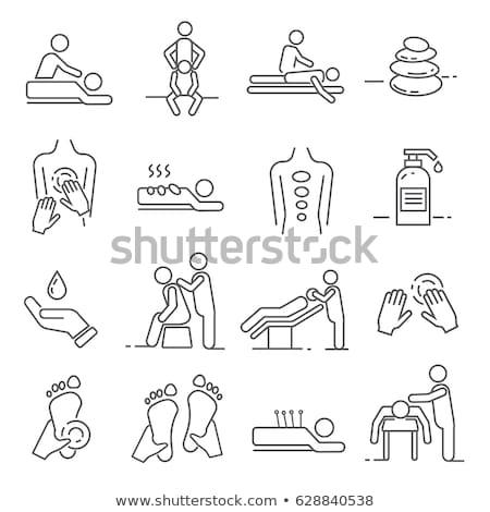 vector set of massage and spa objects stock photo © balabolka