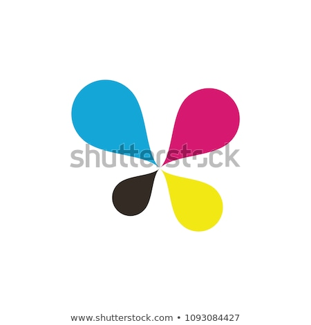 Stock photo: cmyk printing letter x vector logo icon