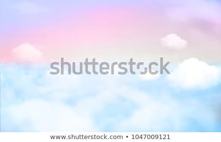 felice · cielo · illustrazione · cavallo · sfondo · divertimento - foto d'archivio © bluering