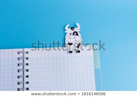Vaca livro ilustração crianças crianças Foto stock © bluering
