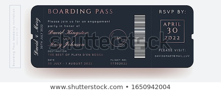 Set of passports and boarding pass Stock photo © bluering