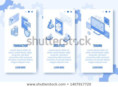 Business Analytik Set Vektor vertikalen Stock foto © Decorwithme