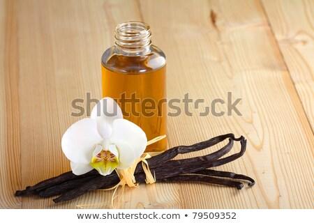 Parfüm üveg vanília üveg szépség asztal Stock fotó © grafvision