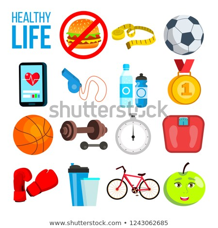 Deportes nutrición vitaminas minerales pesas escalas Foto stock © pikepicture