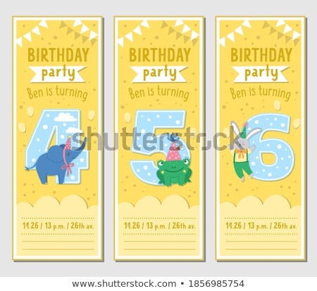 four frame templates with happy frogs stock photo © colematt