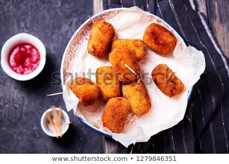 スペイン語 チーズ 素朴な 食品 パーティ ハム ストックフォト © zoryanchik