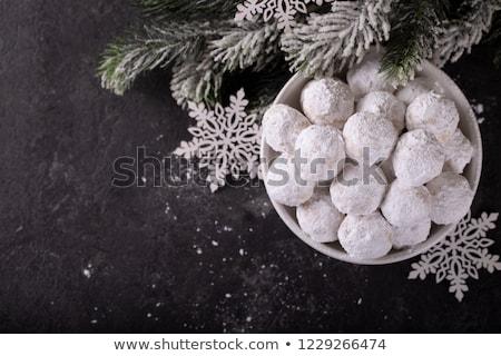 Greco fatto in casa Natale cookies zucchero a velo Foto d'archivio © mpessaris