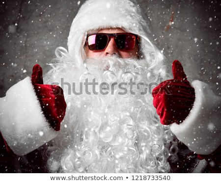 merry christmas santa claus shows ok approval sign stock photo © robuart