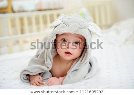 piccolo · baby · bagno · primo · piano · ritratto - foto d'archivio © anna_om