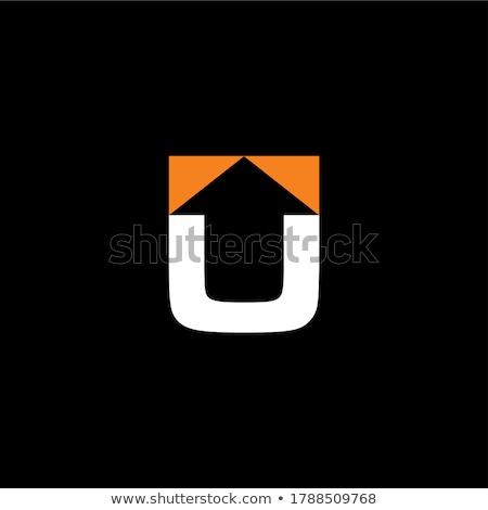 letter u orange green icon logo illustration Stock photo © blaskorizov
