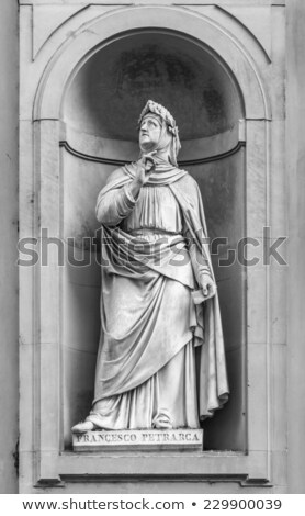 Poet Francesco Petrarca monument in Florence, Italy Stock photo © boggy