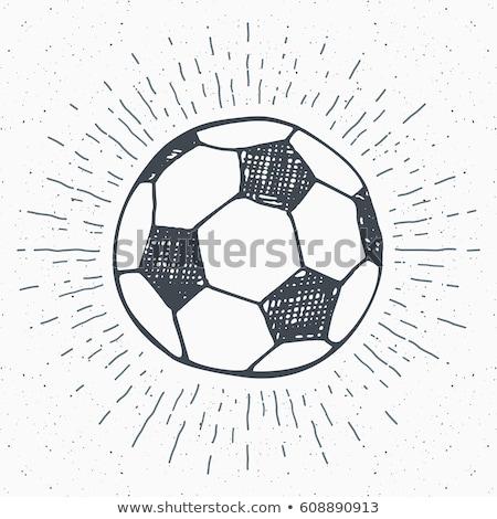 ícone · futebol · bola · portão · com · cor - foto stock © rastudio