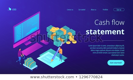 Cash flow statement isometric 3D landing page. Stock photo © RAStudio
