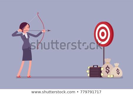 ikon · darts · tábla · nyíl · beruházás · cél · célok - stock fotó © robuart