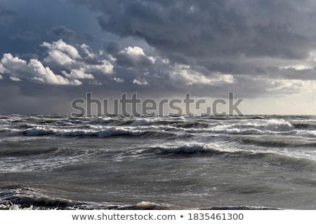 美しい 嵐の 海 抽象的な 自然 波 ストックフォト © Anna_Om
