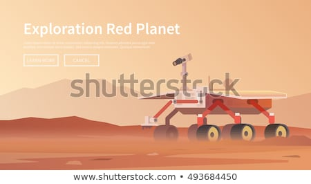 espace · exploration · scène · illustration · lune · fond - photo stock © rastudio