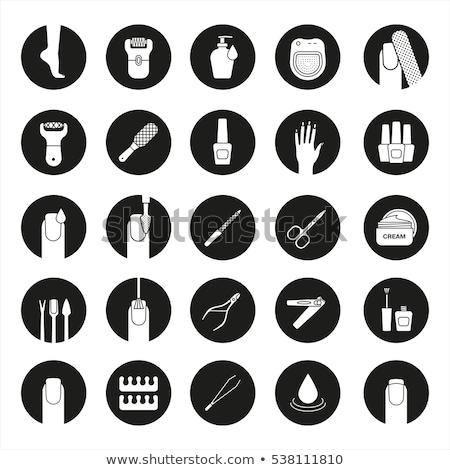 Spa Salon Manicure and Epilation Icons Set Vector Stock photo © robuart