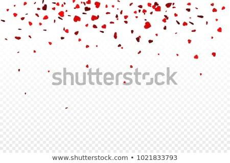 вектора реалистичный изолированный сердце конфетти прозрачный Сток-фото © olehsvetiukha