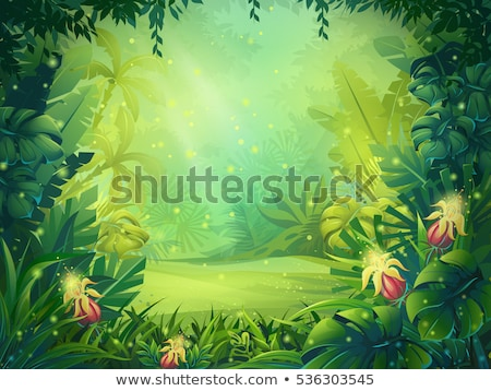Bokor keret égbolt illusztráció textúra levél Stock fotó © bluering