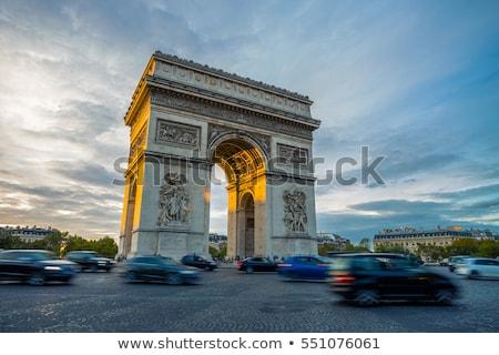 triumphal arch paris france view place charles de gaulle stock photo © hsfelix